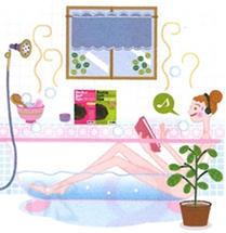 女の子の入浴イラスト